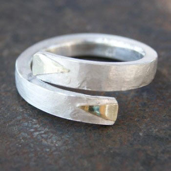Ring mit Goldauflage