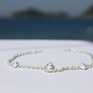 Armkette Silber Schnecken