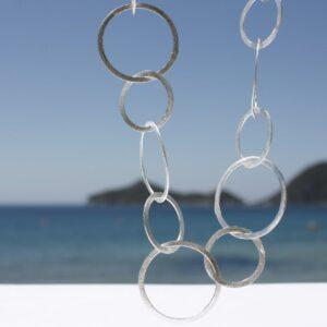 Silberkette Kreise groß