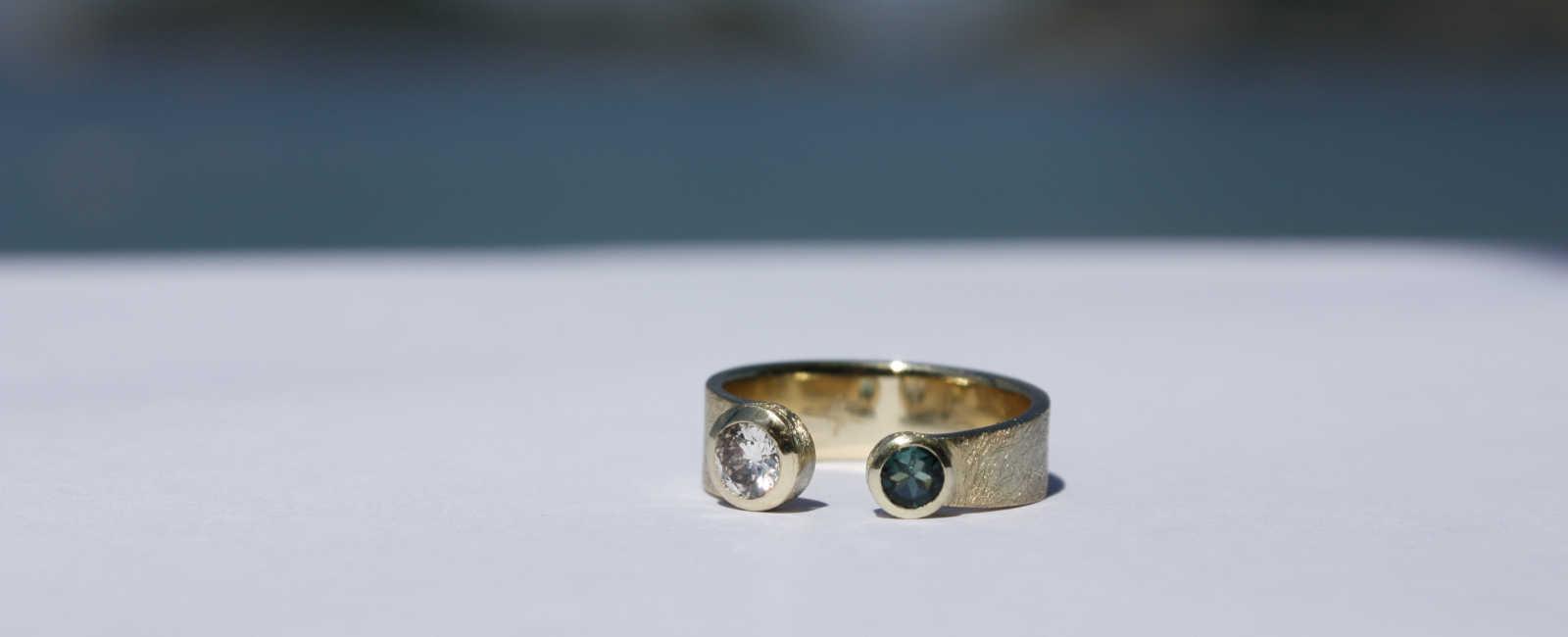 Anfertigung Goldring Diamant Turmalin