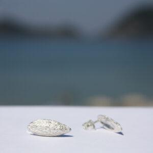 Silberohrstecker Olivenkerne