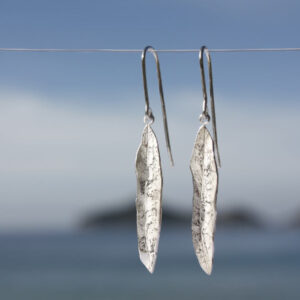 Olivenblattohrhänger einfach lang