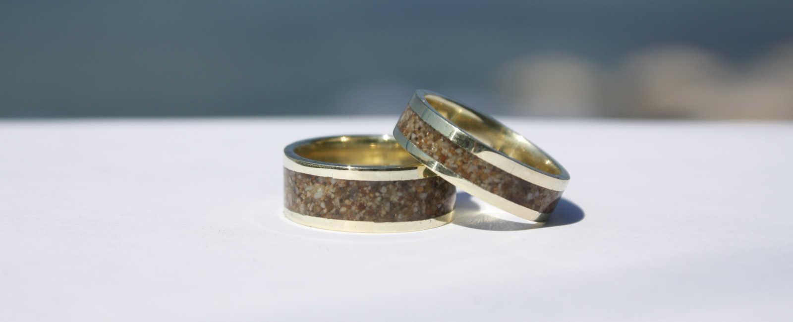 Ringe Gold585 sandgefüllt